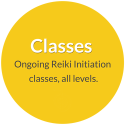Classes, teaching with Norma Jean Young. Ongoing Reiki initiation classes, all levels.