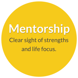 Mentorship and Apprenticeship with Norma Jean Young. Clear sight of strengths and life focus.
